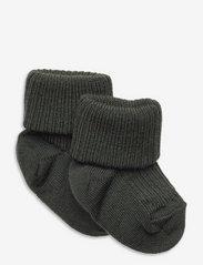 Wool rib baby socks - LIME