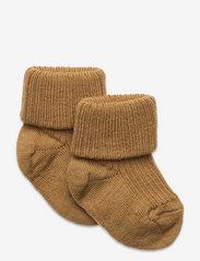 Wool rib baby socks - WOOD THRUS