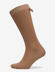 Sofia knee socks with bow - APPLE CINNAMON