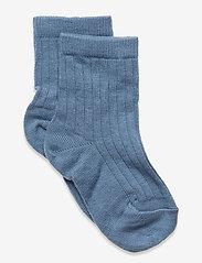 Cotton rib socks - BLUE