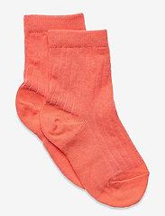 Cotton rib socks - ORANGE