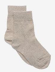 Lulu glitter socks - ECRU