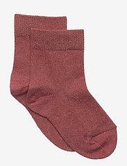 Lulu glitter socks - MARSALA