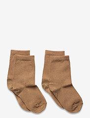 2-pack bamboo socks - BROWN