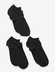 3-pack cotton sneaker socks - BLACK