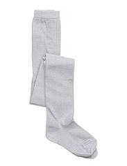 Cotton tights with lurex - 1/WHITE
