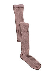 TIGHTS COTTON RIB - 870/ROSE GREY