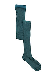 TIGHTS COTTON RIB - DK AQUA GR