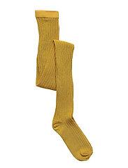 Cotton rib tights - GOLDEN