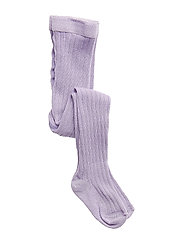 TIGHTS COTTON RIB - LILAC