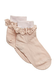 Filippa socks with lace - ROSE DUST
