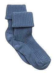 Cotton rib baby socks - BLUE