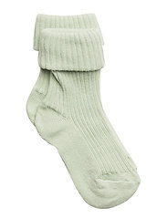 Cotton rib baby socks - GREEN