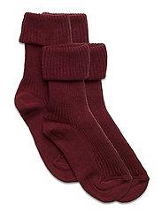 Cotton rib baby socks - LILAC