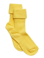 Cotton rib baby socks - YELLOW