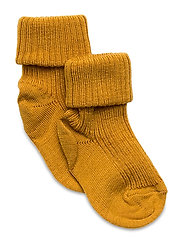 Rib wool baby socks - GOLDEN