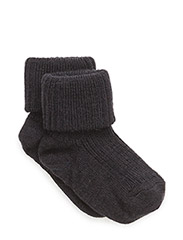 ANKLE WOOL RIB TURN DOWN