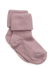 ANKLE WOOL RIB TURN DOWN - 188/WOOD ROSE