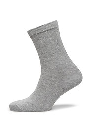 ANKLE COTTON PLAIN - 491/GREY MARLED