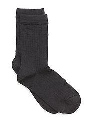 Rib wool socks - 66/NAVY