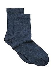 Rib wool socks - BROWN MARL