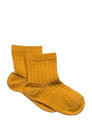 Rib wool socks - GOLD