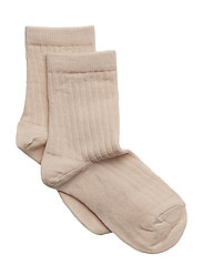 Rib wool socks - ROSE