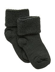 Baby terry wool socks - ARMY
