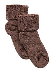 Baby terry wool socks - BROWN