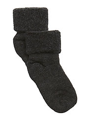 Baby terry wool socks - DARK GREY