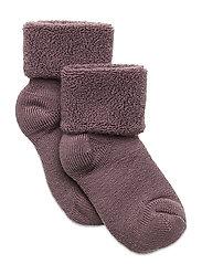 Baby terry wool socks - GRAPE SHAK