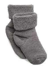 ANKLE TERRY WOOL BABY - GREY MARL.