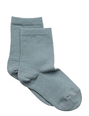 ANKLE PLAIN WOOL/COTTON - STORMY SEA