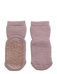 Wool socks with anti-slip - 188/WOOD ROSE