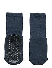 Wool socks with anti-slip - DENIM MEL.