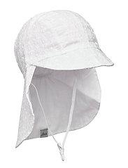 FLORA CAP W. NECK SHADE - WHITE