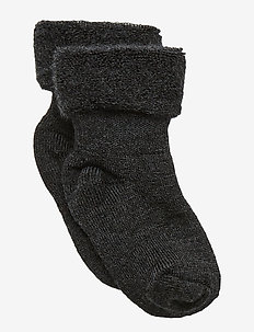 ANKLESOCK TERRY WOOL BABY - ANTHRACITE