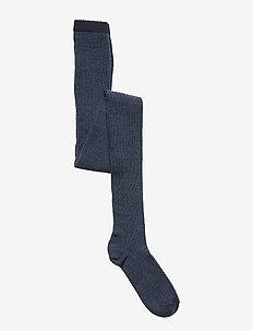 Wool rib tights - strumpfhosen - brown marl