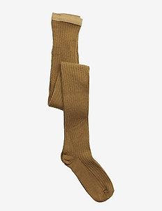 Wool rib tights - strømpebukser - wood thrus