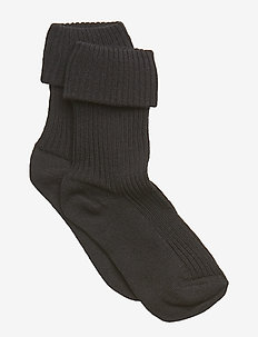 Cotton rib baby socks - chaussettes - black