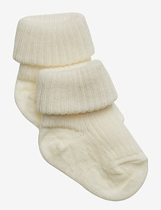 ANKLE WOOL RIB TURN DOWN - SNOW WHITE