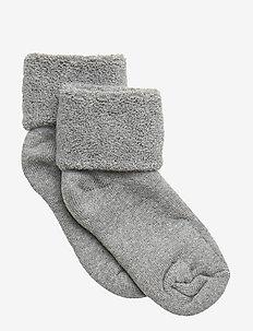 ANKLE PLAIN TERRY - socks - grey marl.