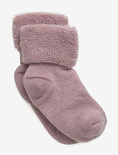 ANKLE TERRY WOOL BABY - skarpetki - 188/wood rose