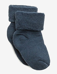 ANKLE TERRY WOOL BABY - BLUE
