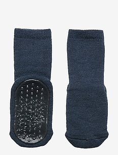 ANKLE UNI SLIPPERS NON-SLIP - DENIM MEL.