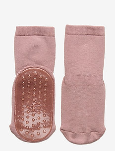 Cotton socks with anti-slip - skarpetki antypoślizgowe - rose grey