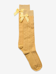 Sofia knee socks with bow - skarpetki - yellow