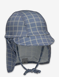 Check cap with neck shade - solhatt - captains blue
