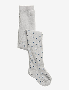 TIGHTS SNOWDROPS - SILVER