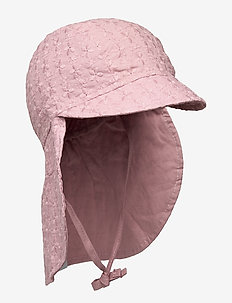 FLORA CAP W. NECK SHADE - solhat - rose grey